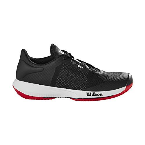 Wilson Zapatillas de deporte para hombre, KAOS SWIFT Clay, Negro/Azul claro/Rojo, 44, para pista de tierra batida, todo tipo de jugadores, WRS327760E095