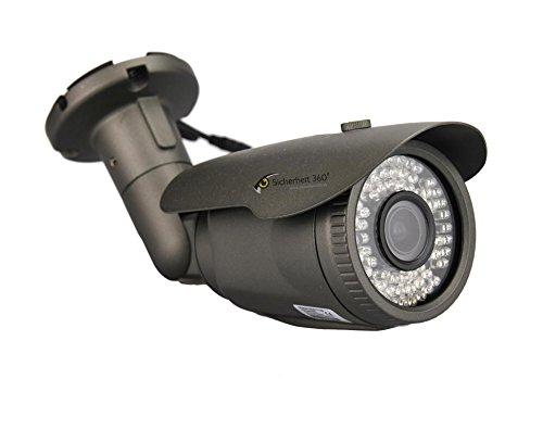 2.4 Megapixel Außen Kamera mit 2.8-12mm Objektiv und 60m Nachtsicht! 1080p FullHD Auflösung HDCVI Technik