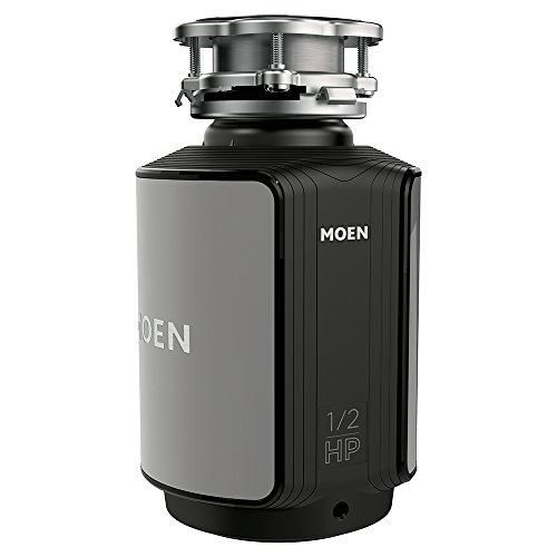 Moen GX50C GX Series 1/2 Horsepower Continuous Feed Compact Garbage Disposal, Power Cord Included