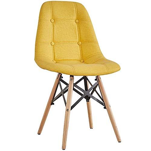WH Upgrade-eetkamerstoel massief hout comfortabele zitting creatief modern minimalistische studie bureaustoel terug Nordic