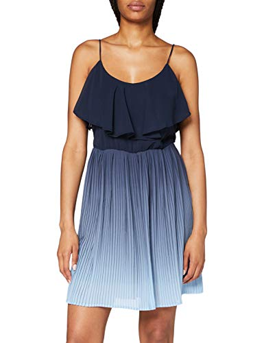 VERO MODA Damen VMLUNA Singlet Short Dress WVN CE Kleid, Placid Blue, S