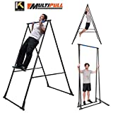 KT Toes Don't Touch Ground Foldable Pull Up Bar Stand Sturdy Power Tower Workout Station for Home Gym Strength Training Fitness Equipment Multifunctional Exercise Rack