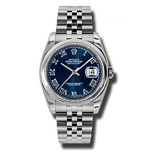 Rolex Datejust Blue Dial Stainless Steel Jubilee Bracelet Mens Watch 116200BLRJ image