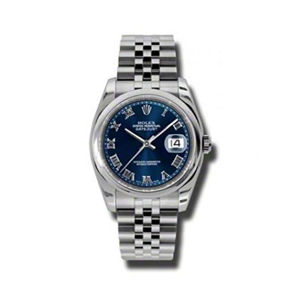 Fashion Shopping Rolex Datejust Blue Dial Stainless Steel Jubilee Bracelet Mens Watch 116200BLRJ