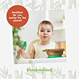 Boobamboo BPA Free Silicone Baby Led Weaning Spoon Set, Multicolour Pack of 3 with Travel Bag!