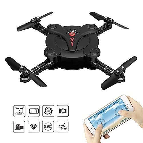 LNHJZ FQ777 FQ17W 6-Axis Gyro Mini WiFi FPV Plegable G-Sensor Pocket Drone...