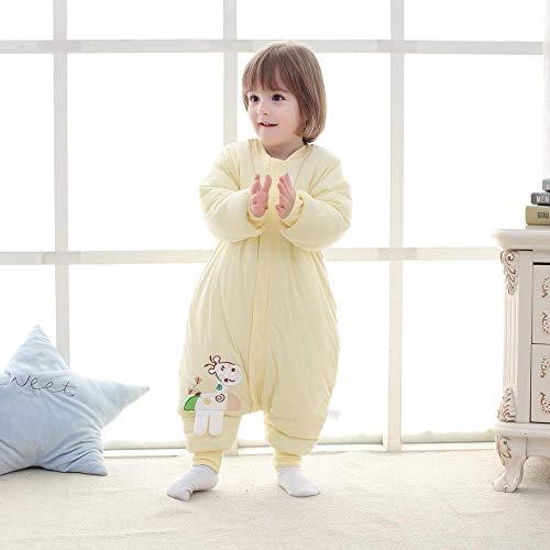 Deken katoenen slaapzak, katoenen kinderdekbed-Fawn geel_90 meter 1-2 jaar, voor 0-12 maanden baby