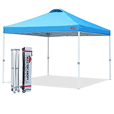 MASTERCANOPY Durable Ez Pop-up Canopy Tent with Roller Bag (12x12, Sky Blue)