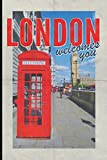 London welcomes you: Compact journal notebook for UK Travel Vacation Holiday Business trip retro style