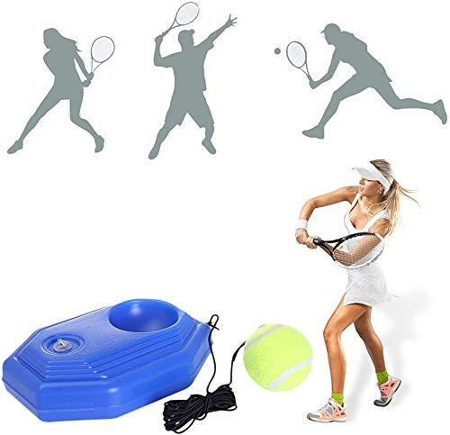 INTVN Tennistrainer, Tennisball Trainer Tennis Baseboard, Trainer Singles Training Übungsbälle, mit Schnur und 2 Trainingsball Selbststudium Praxis Tennisball Training Tool für Anfänger, Erwachsene