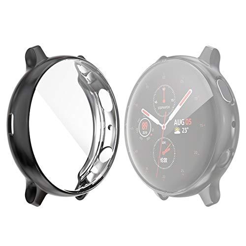 Fashion horloges Dfch for de Samsung Galaxy Kijk Active 2 44mm Hat-prince Full Coverage galvaniseren TPU Case (Zwart) (Color : Black)