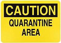 検疫エリアに入らないでください メタルポスタレトロなポスタ安全標識壁パネル ティンサイン注意看板壁掛けプレート警告サイン絵図ショップ食料品ショッピングモールパーキングバークラブカフェレストラントイレ公共の場ギフト