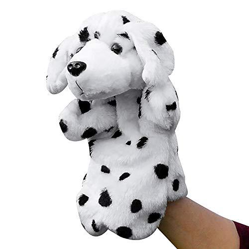Younoo - Estuche de juego de Marionetas de mano – Simulación Animal Dálmata de peluche Marioneta de mano