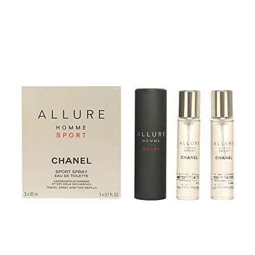 Chanel Allure Herren Sport Edt Vapo nachfüllbar, 3 x 20 ml, 1er Pack (1 x 60 ml)