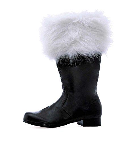"""Ellie Shoes Men's 1"""" Heel Boot with Fur. Sizes L BLKP"""