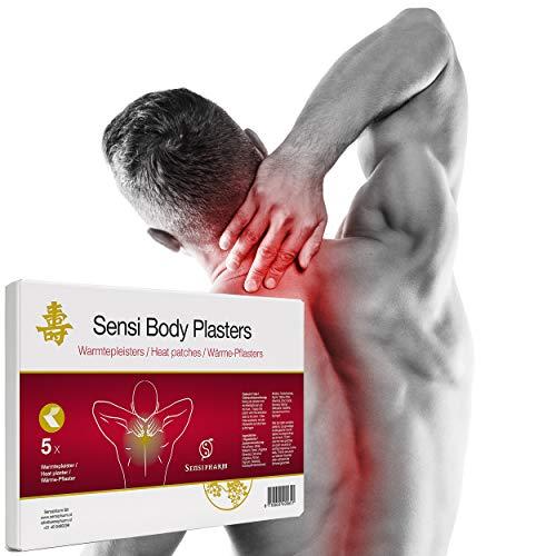 Sensipharm Sensi Body Plasters 5 Warmtepleisters bij Stijve Spieren in Rug, Nek, Schouders. Tijgerbalsem - Warmte Pleister bij Spierpijn, Rugpijn, Hernia