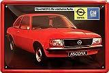 Froy Opel Ascona Youngtimer Kult Auto Wand Blechschild