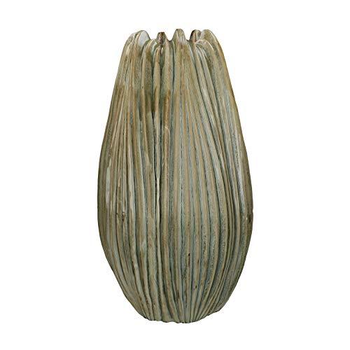 PTMD Dekorative Vase Bodenvase Ribona aus Keramik in Natural - Maße: Ø 34 x H 58 cm