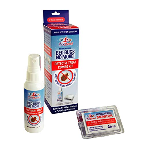 Price comparison product image BugBand Bed Bug Detection & Treat Kit,  Includes 2 oz Pump Spray & 2 Detecting Monitors