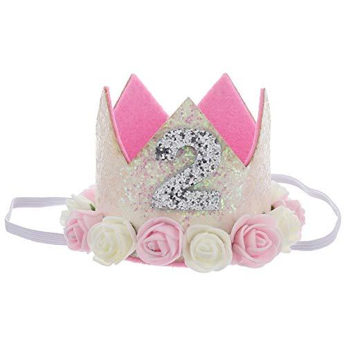 STOBOK Corona de la tiara de la princesa del bebé, sombrero del cumpleaños del príncipe del partido, accesorio de la fotografía del recién nacido