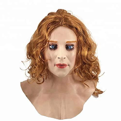 HENGYUTOYMASK Weibliche Gesichtsmaske Halloween-Party Kostüm Latex Frau Haut Kopf Maske für Mann männlich Dress up