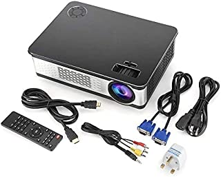 ZLSANVD Mini Projector 30-120In Projection Home Theater LED Projector Optical Trapezium Adjustment Video Projector with Re...