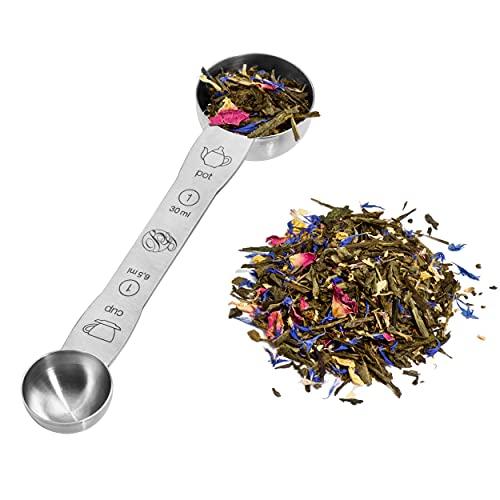 Boomers Gourmet - Duo Teeportionierlöffel Messlöffel Edelstahl - Teemaß I Teemesslöffel I Kaffeelöffel Portionierer für Tee und Kaffeepulver - 1 Stück