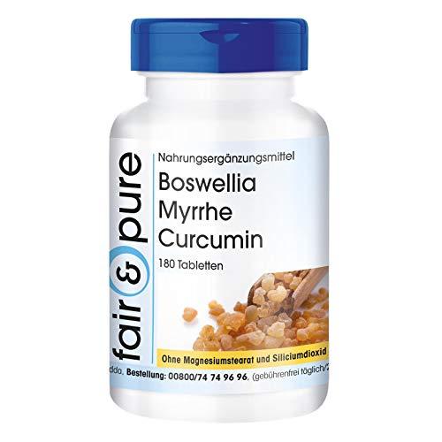 Boswellia Myrrhe Curcumin - mit Vitamin D3 -180 Tabletten
