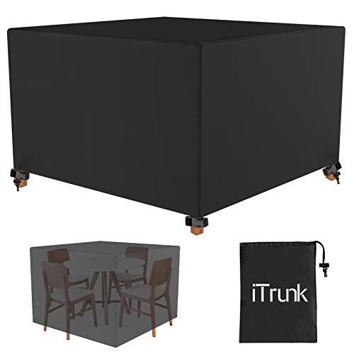 iTrunk Funda Muebles Jardin Impermeable, Fundas Protectoras Impermeable Sofa, 125 * 125 * 74 Funda de Mesa para Juegos de Muebles de Jardín Anti UV de Tejido Oxford de Alta Resistencia