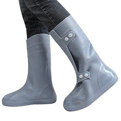 Walker Valentin Chanclos IBHT Alta Tubo de Cubierta de Zapatos a Prueba de Lluvia Snowproof tamaño Adulto: XXXXL (Negro) Silver Grey
