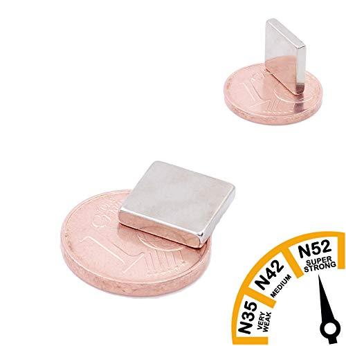 Brudazon | 25 powermagneten 10 x 2 mm | N52 dikke stand – neodymium magneten ultrasterk | powermagneet voor whiteboard, prikbord, koelkast | klein en praktisch