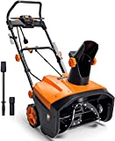 TACKLIFE Electric Snow Blower, 15 Amp 20 INCH, Snow Blower, 180°Chute Rotation, 30' Throwing Distance, Snow Shovel & Flashlight Included, Electric Snow Thrower