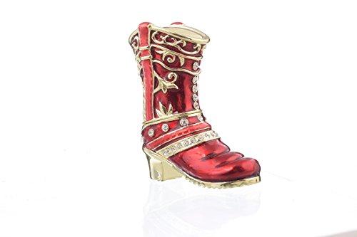 Keren Kopal sh1398Rot Musketier Schuh Schmuckkästchen Verziert mit Swarovski-Kristallen