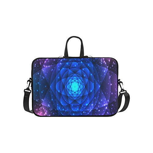 Heilige Geometrie Symbole Elemente Cosmic Aktentasche Laptoptasche Messenger Schulter Arbeitstasche Crossbody Handtasche Für Geschäftsreisen