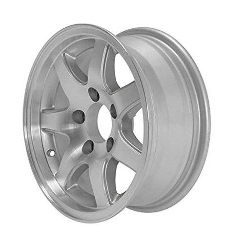 15x6 T16 Matte Black Aluminum Trailer Wheel 5x5