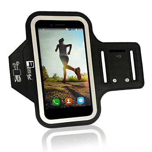 RevereSport Sportarmband kompatibel Samsung Galaxy Plus S10 / S9 / S8. Armband Telefon Handyhalter Case für Laufen, Workout, Joggen und Fitness