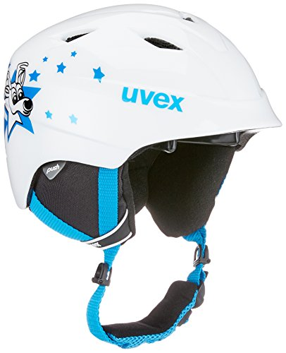 Uvex Kinder Airwing 2 Skihelm, Blue Star, 48-52 cm
