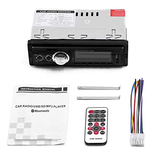 Floridivy 12V auto gewijzigd Retro Style Bluetooth FM autoradio FM autoradio, USB MP3-speler USB AUX Vintage Car Stereo