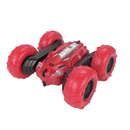 Coche De Juguete De Control Remoto Anticaída Inflable para Niños, Juego De Juguete De Coche De Control Remoto Recargable De Alta Velocidad Regalo con Luz,Rojo