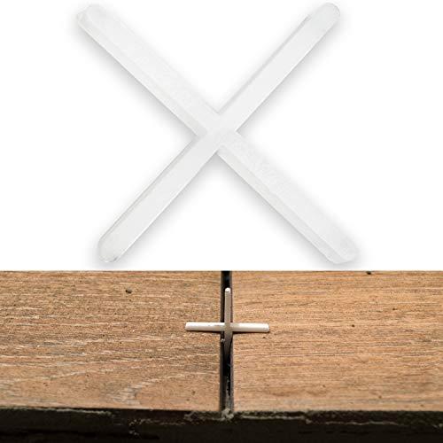 Fliesenkreuze, 1 mm stark, 1000x, sorgen für gleichmäßigen Abstand, können verfugt werden, Fugen Kreuz, Fliesenabstandshalter, Fliesen Abstandshalter, Fliesen Kreuz, Kunststoffkreuze, Distanz Halter