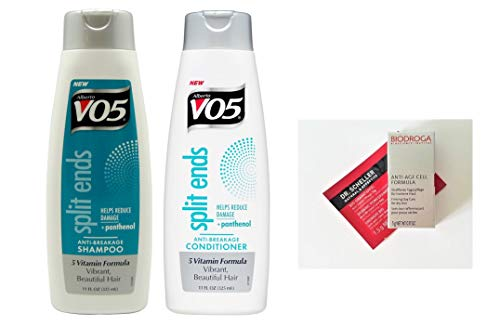 Alberto VO5 Split Ends Shampoo and Conditioner Duo 11 oz each Paraben-Free (+ 2 Free Samples)