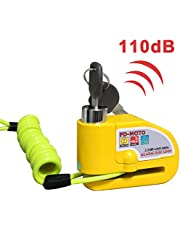 FD-MOTO 110dB Alarm Disc Brake Lock + Free Carry Pouch and 1.5M Reminder Cable Anti-Theft Motorcycle Motorbike Security Lock