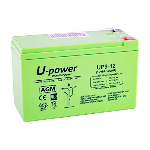 Master U-Power Batería Plomo AGM UP 9Ah 12V