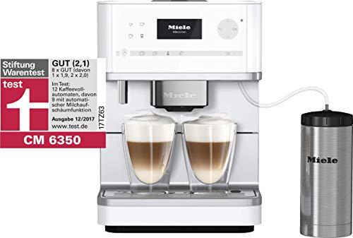 Miele CM 6350 Kaffeevollautomat (OneTouch- und OneTouch for Two-Zubereitung, vier Genießerprofile, Tassenwärmer, Heißwasserauslauf, Tassenbeleuchtung, automatische Spülprogramme) lotos-weiß