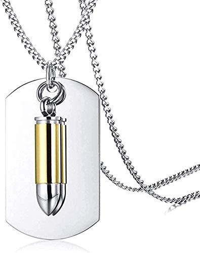 NC96 Joyería de Recuerdo Collar de urna Conmemorativa de cremación Cenizas Etiqueta de Perro Militar Colgante de Bala de Pistola