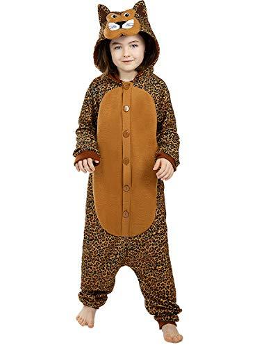 Funidelia | Disfraz de Leopardo Onesie para niño y niña Talla 5-6 años ▶ Animales, Desierto, Selva - Multicolor