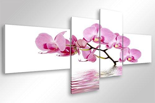 Degona Quadro Moderno Orchids in The Lake - cm 160x70 Stampa su Tela Canvas Arredamento Arte Arredo Fiori