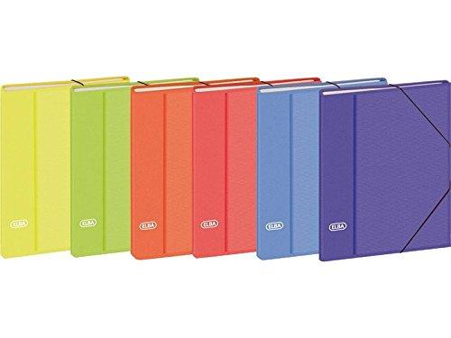 Elba 163549 - Carpeta clasificadora A4, 12 separadores, multicolor