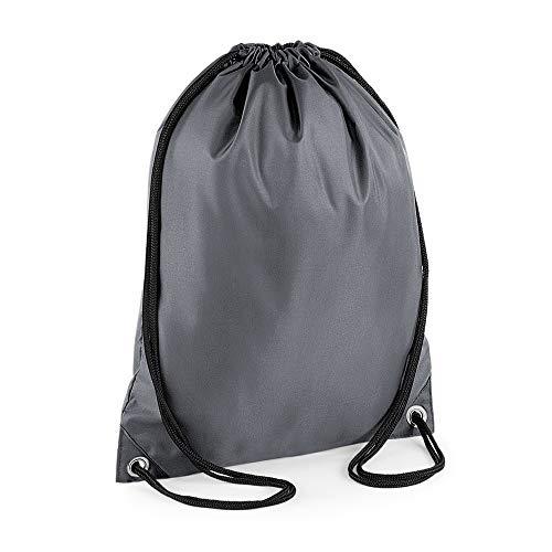 (バッグベース) Bagbase 耐水 ジム スポーツ キャリーバッグ ナップサック 11リットル (ワンサイズ) (グラファイト)