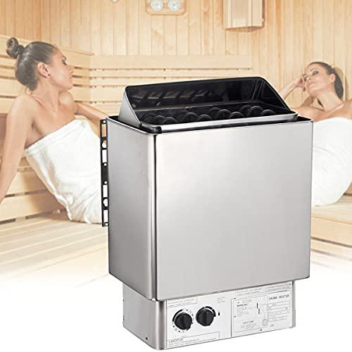 EFGSbed Estufa Eléctrica para Sauna, Acero Inoxidable Control Integrado, Resistente a Altas...